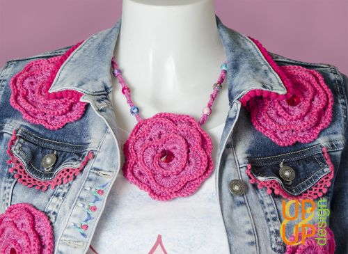 Up & Up Necklace: Jeans & Roses