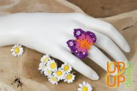 Up & Up Ring: Joyous Butterfly ~ purple/pink/orange