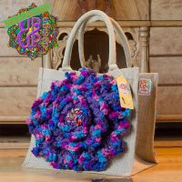 Up & Up Bags in bloom! UUBIB02 Tas in blauw, paars en roze