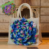 Up & Up Bags in bloom! UUBIB03 Tas in blauw groen roze