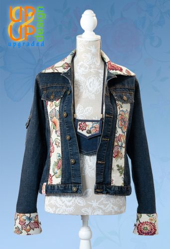 Up & Up upgraded 'Jeans & Victorian Flowers jacket' UUU011JVF