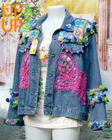 Up & Up upgraded 'Butterflies & Jeans' denim jacket UUU010BJ