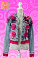 Up & Up upgraded 'Jeans & Roses' denim jacket UP009