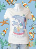 Be playful! Do more by doing less ~ size M vintage white SU