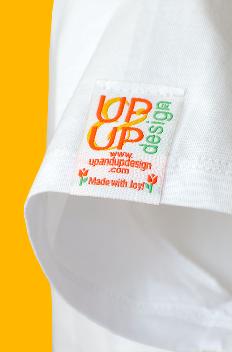 Up & Up 'Made with Joy' label